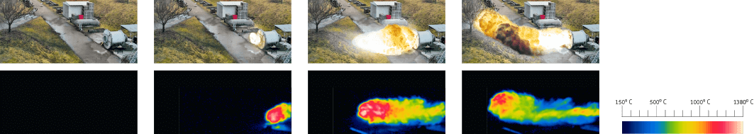 Thermographic investigation of conventional venting with explosion vent / explosion panel